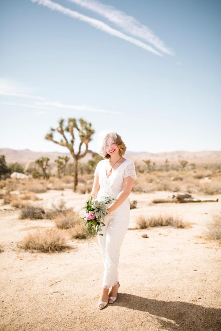 Trouw jumpsuit bruid
