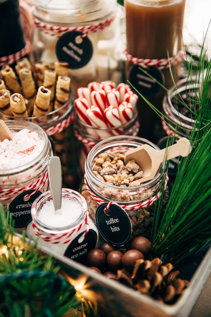 Toppings voor de warme chocolademelk