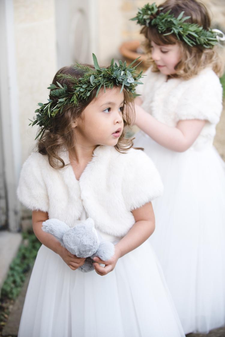 Bruidsmeisjes met bontjasje