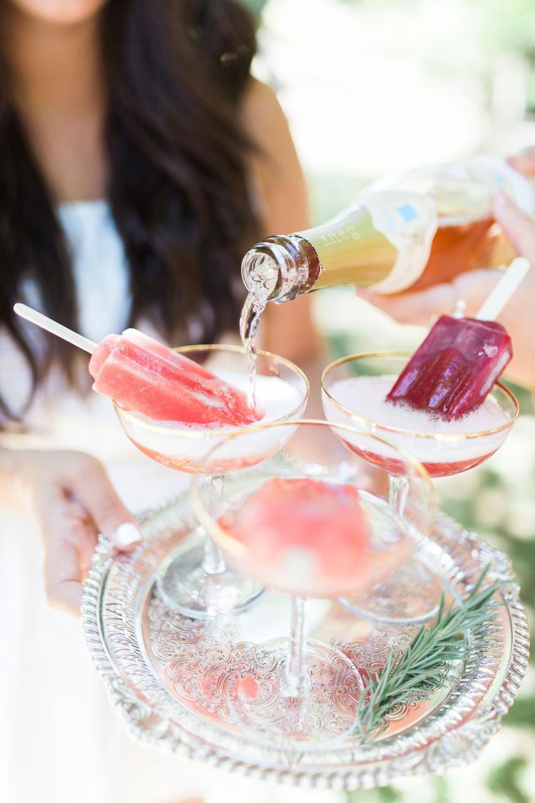 Cocktail waterijsjes op bruiloft