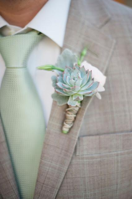 Vetplantje als corsage