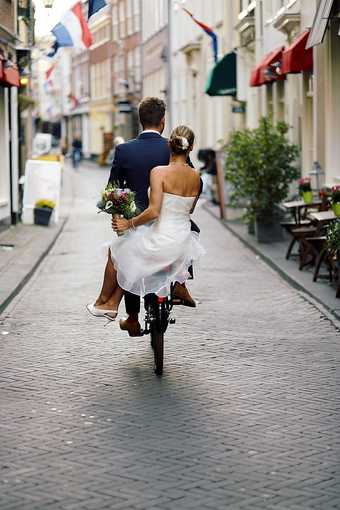 Duurzaam trouwen op de fiets