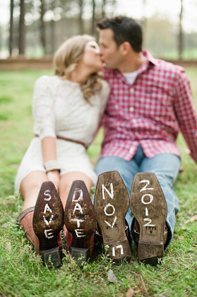 Trouwdatum op onderkant schoenen