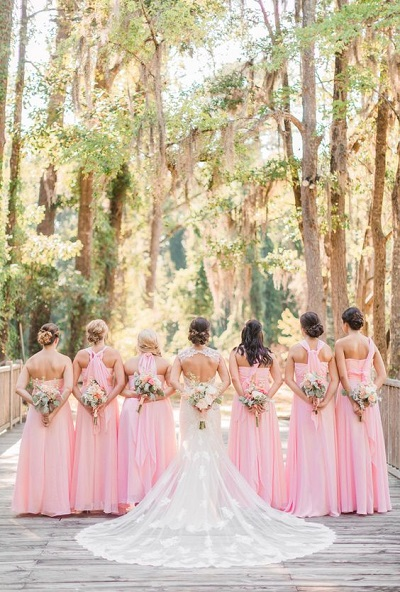 Roze themakleur bruiloft