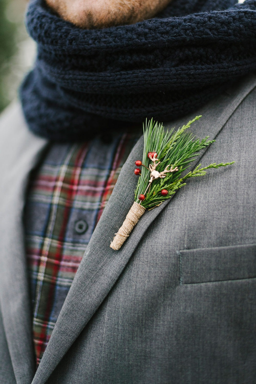 Bruidegom op een kerst bruiloft