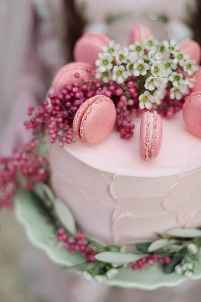 Bruidstaart met macarons