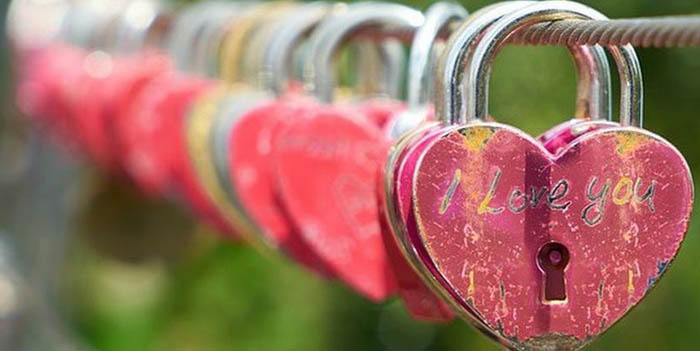 Privacy Policy Padlock Hearts