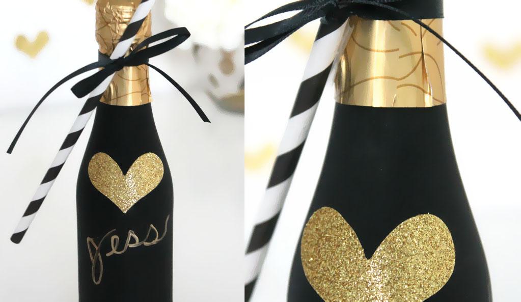 Champagne als gastenbedankje