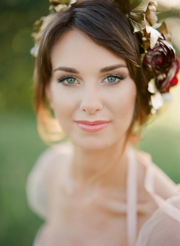 Bruidsmake-up zachte tinten