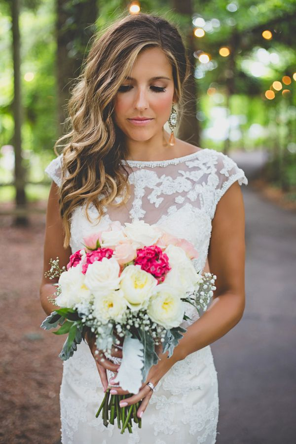 Oorbellen bruid roze