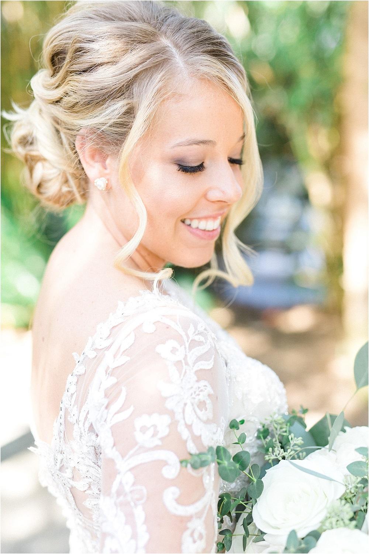 Bruid met parel oorbellen