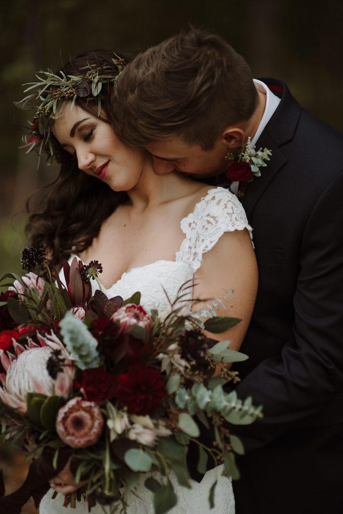 Trouwreportage foto met bruid en bruidegom