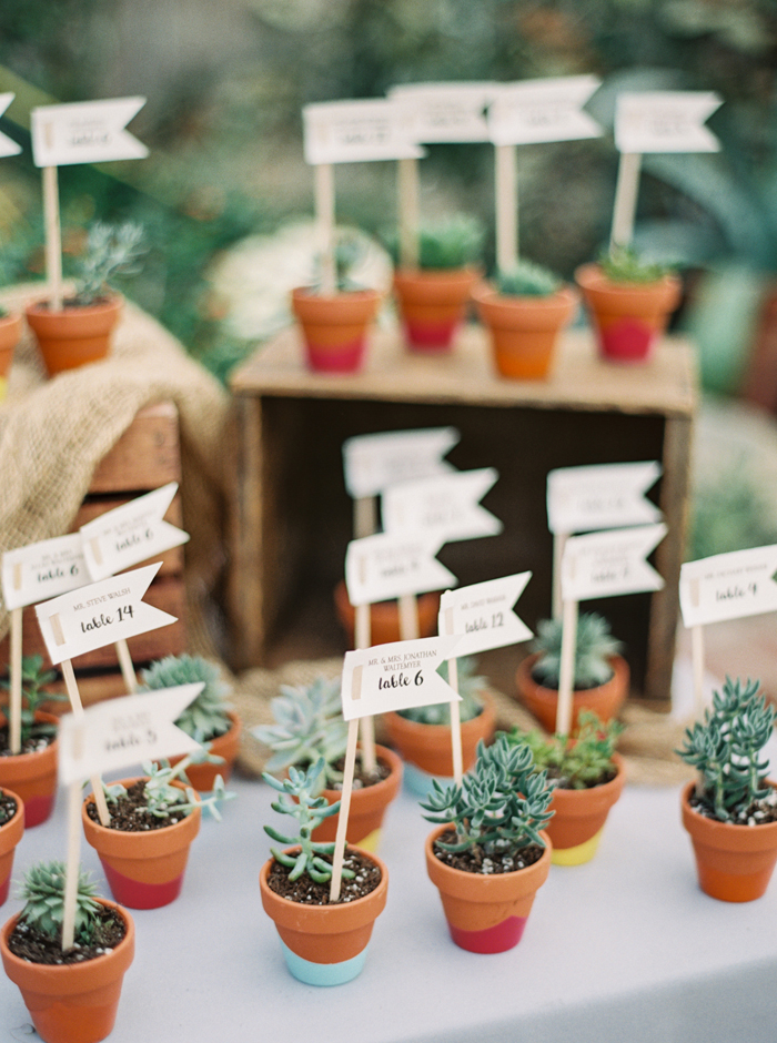 Plantje als bedankjes bruiloft