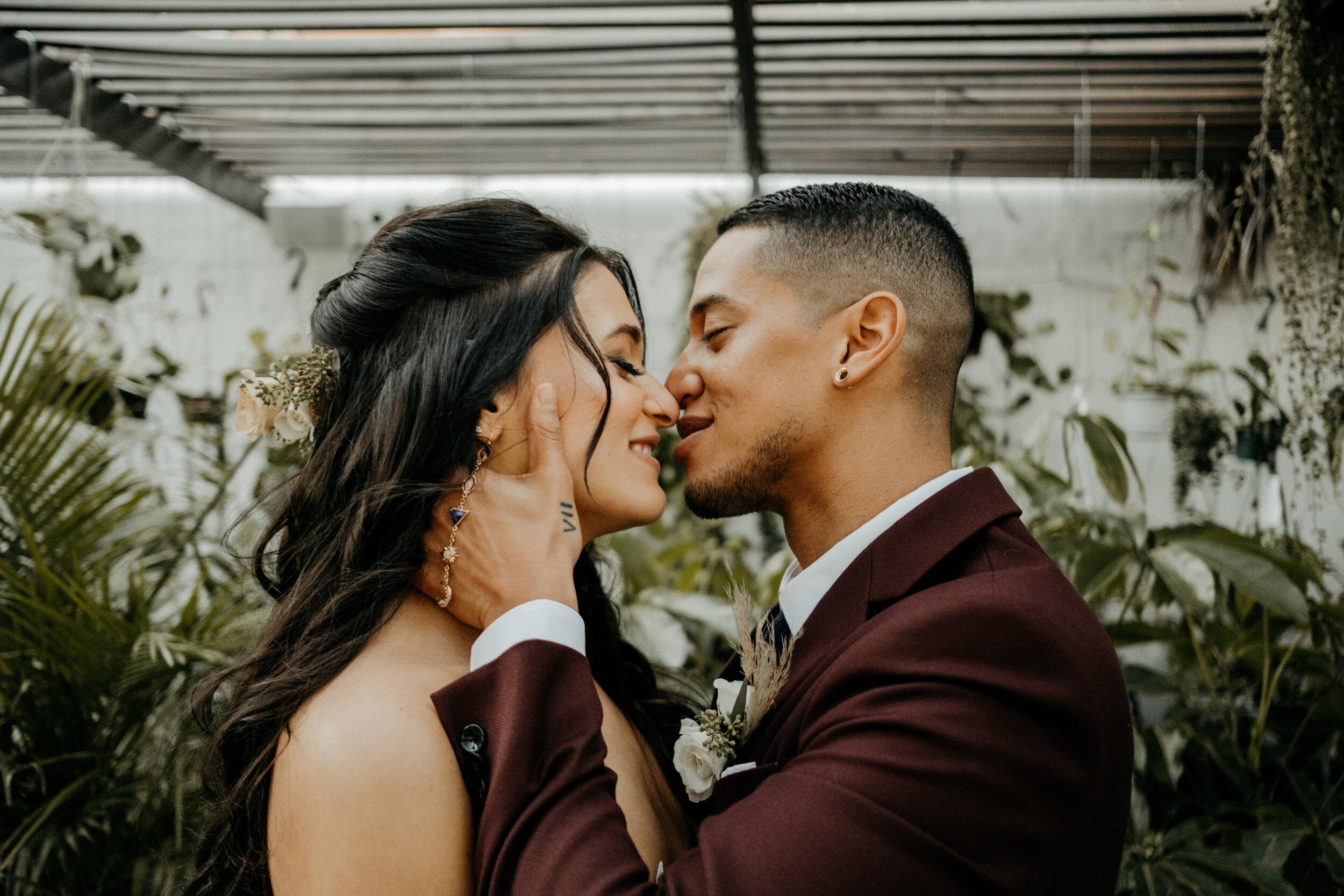 Kus van het bruidspaar