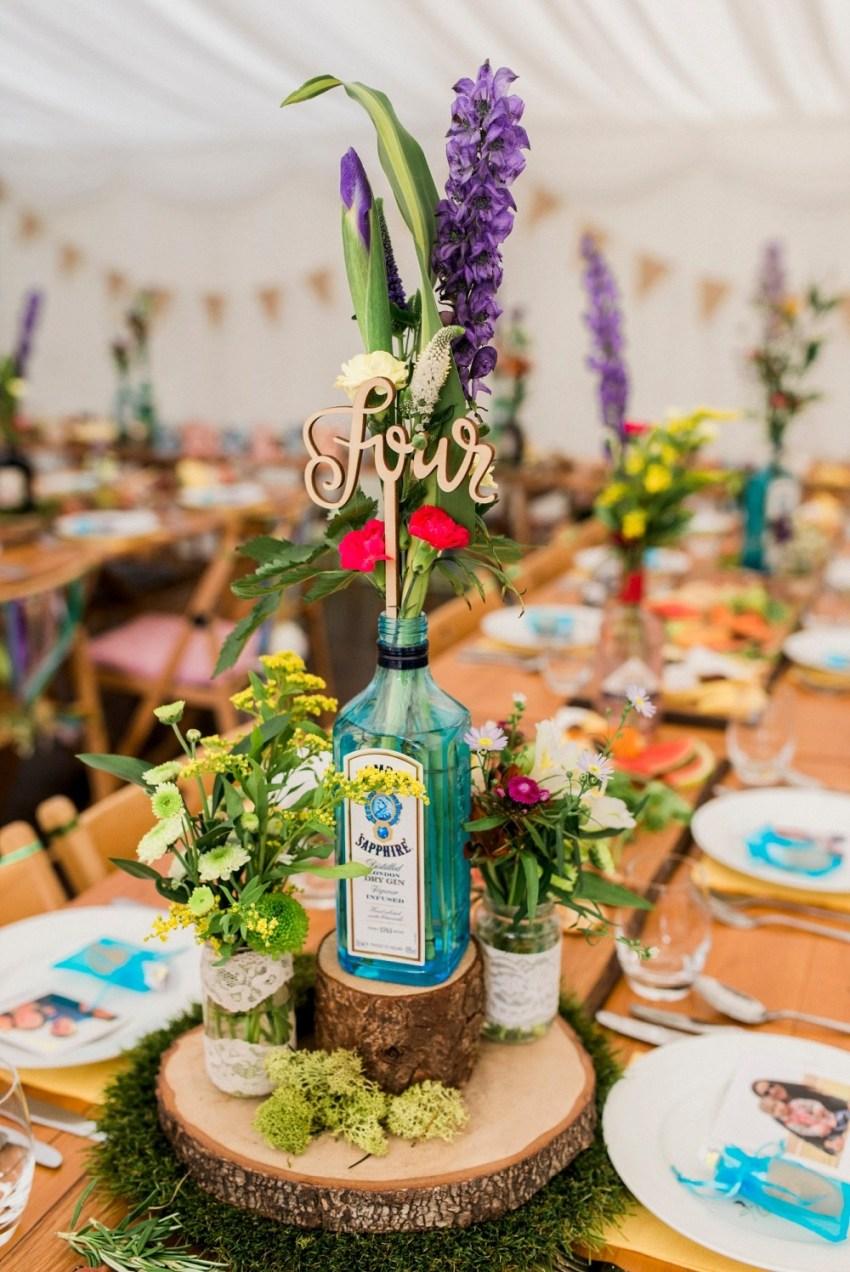 Gin fles als decoratie