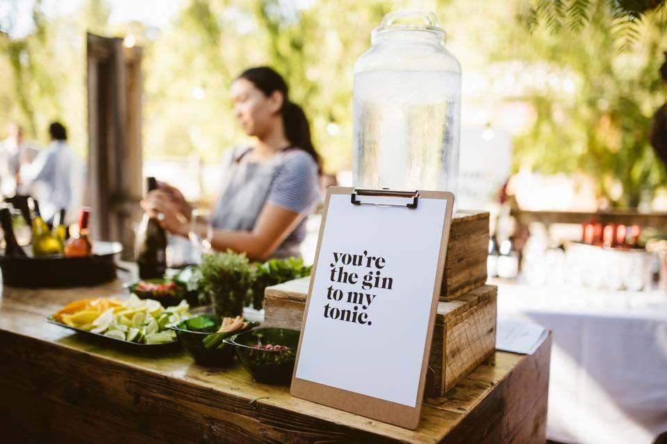 Gin-tonic bar