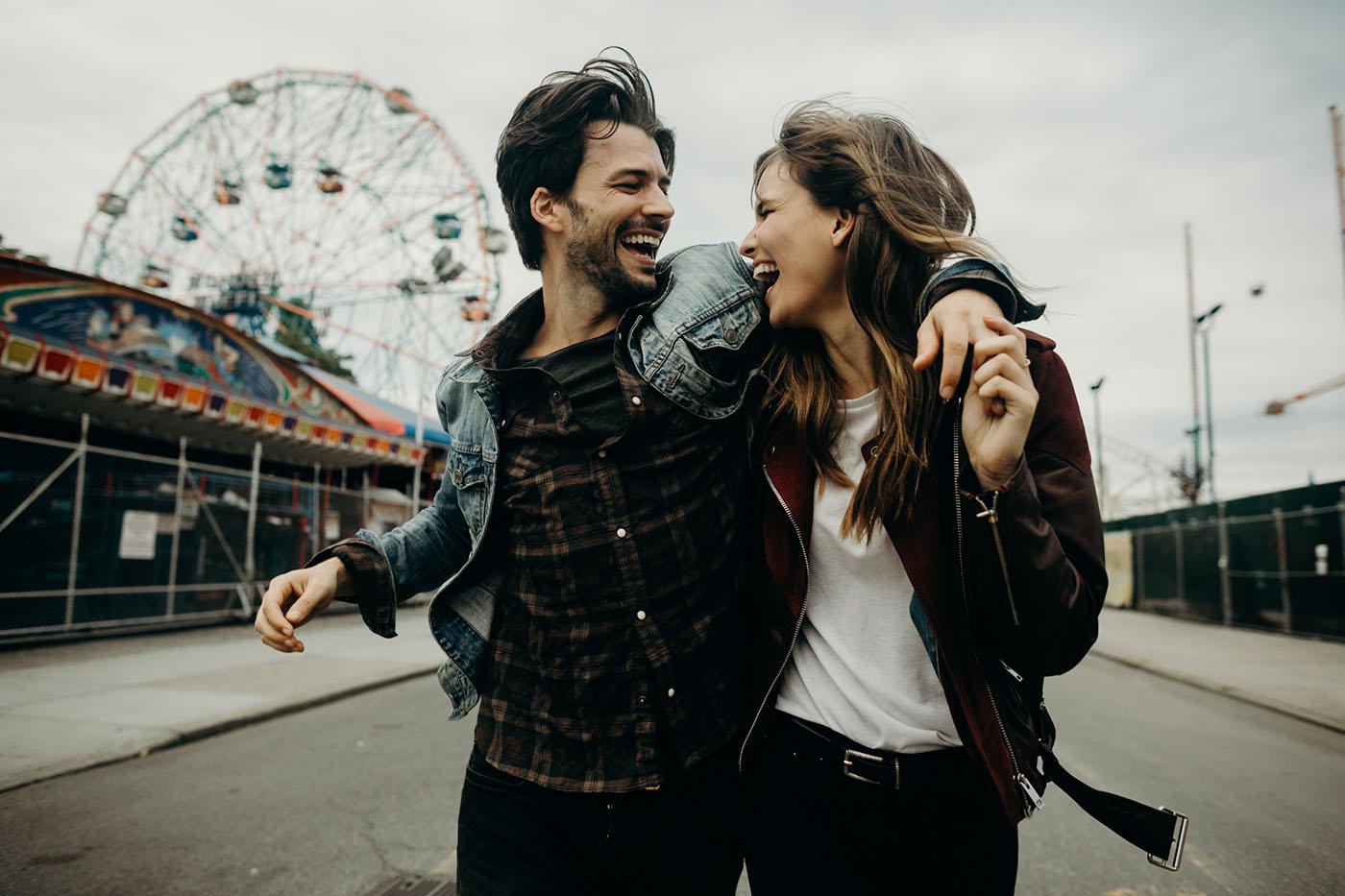 Verlovingsfoto op Coney Island