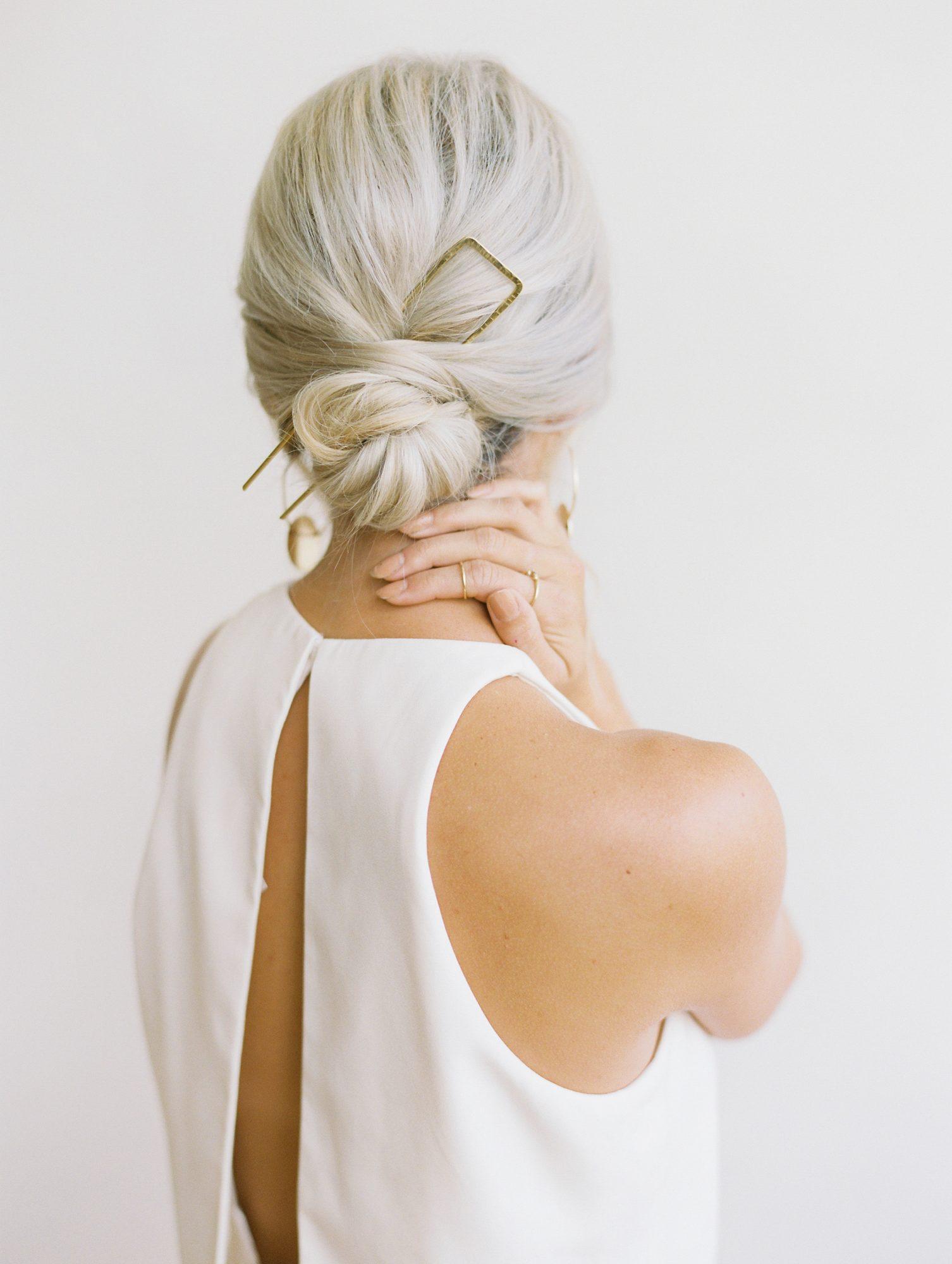 Bruid met lage knot