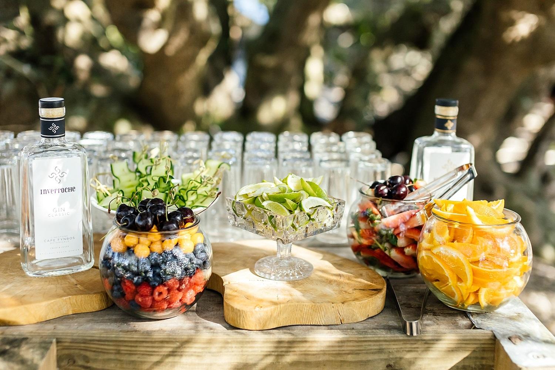 Gin bar op een bruiloft