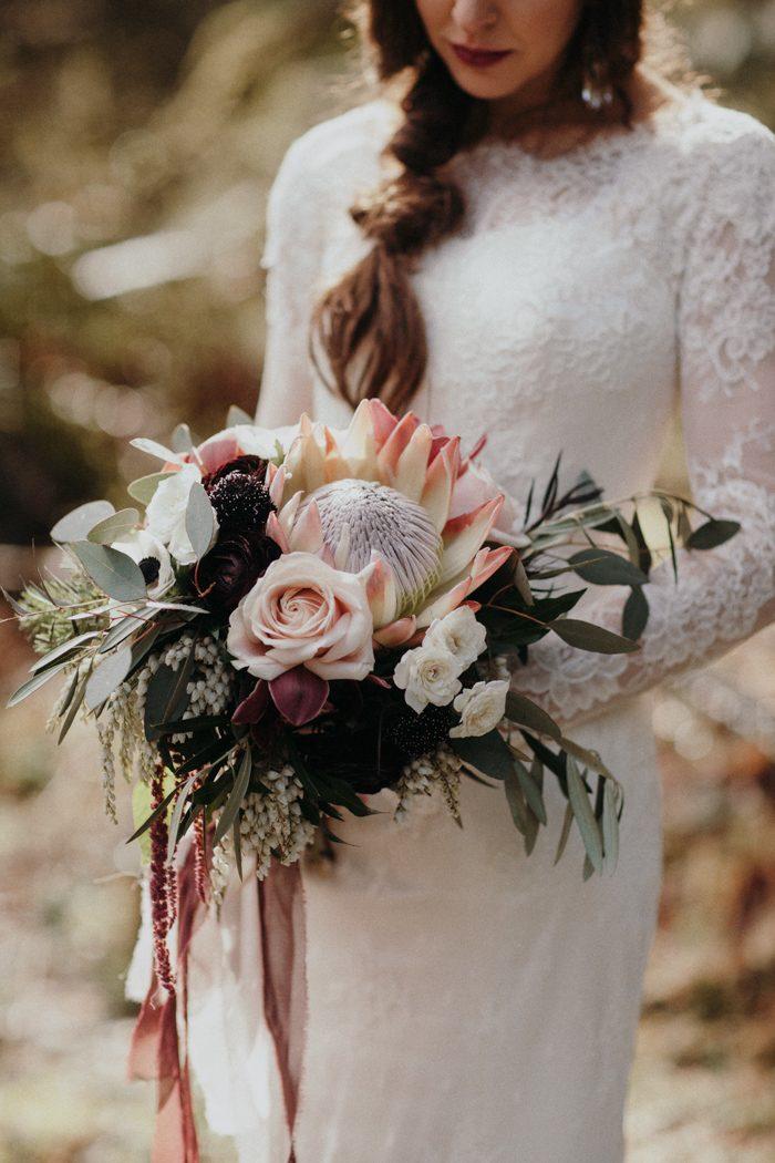 Bruidsboeket met Protea