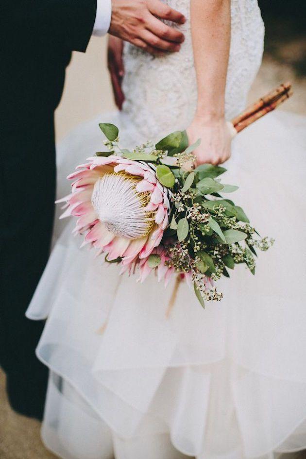 Protea als bruidsboeket