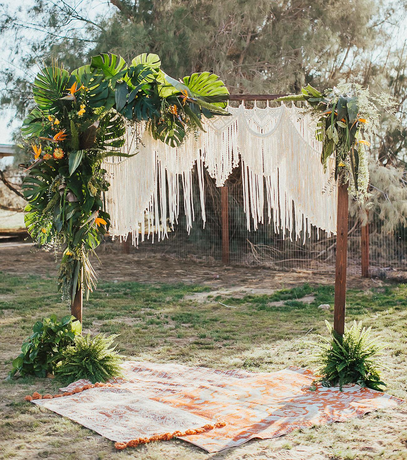 Tropische bruiloft backdrop