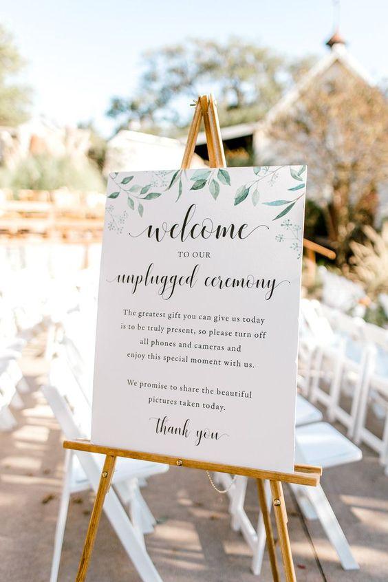 Unplugged bruiloft bord