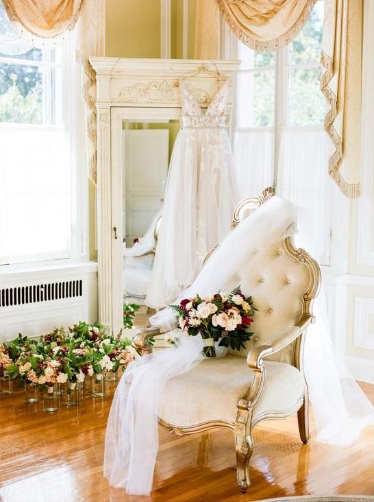 Trouwjurk in bruidssuite