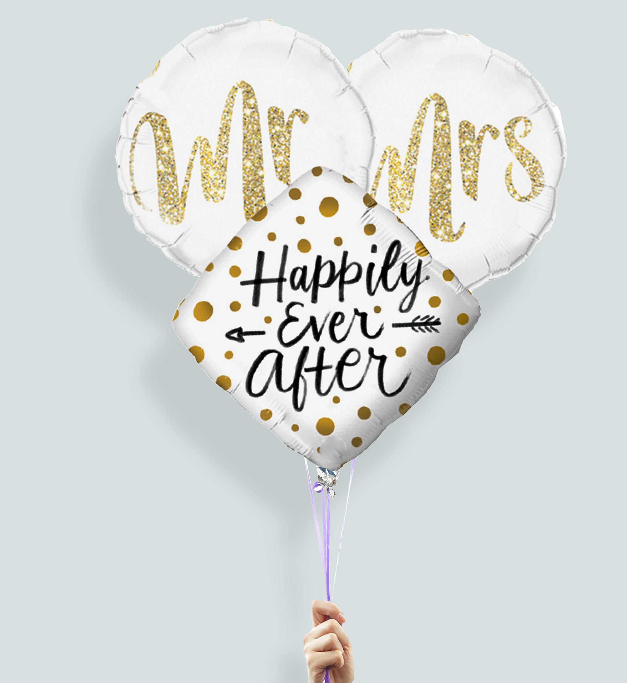 Gefeliciteerd met jullie trouwdag helium ballonnen