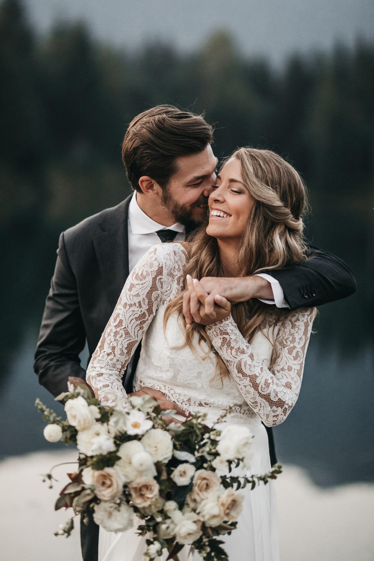 Fotoshoot met bruidspaar