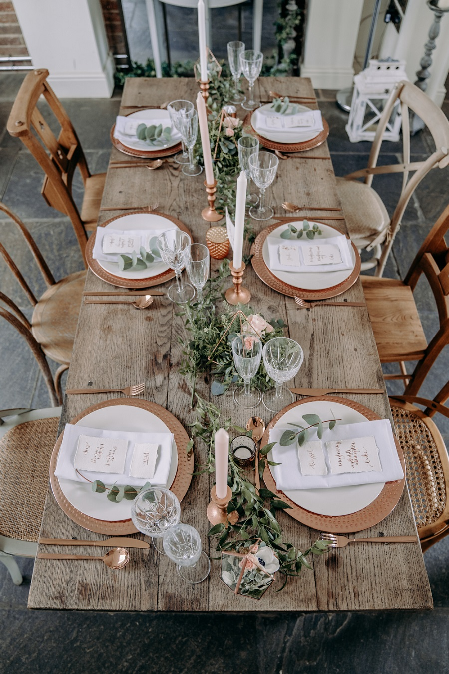 Tafeldecoratie bruiloft ideeën