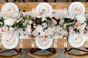 Gedekte tafel bruiloft diner