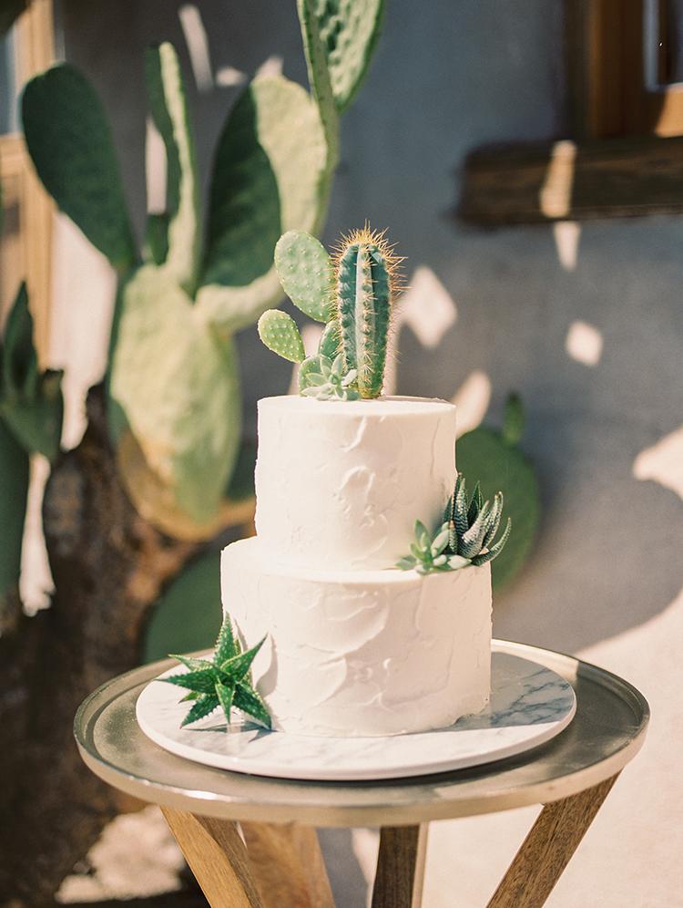 Bruidstaart met cactus