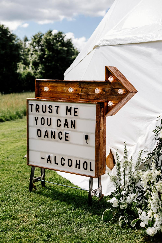 Quotes als bruiloft versiering