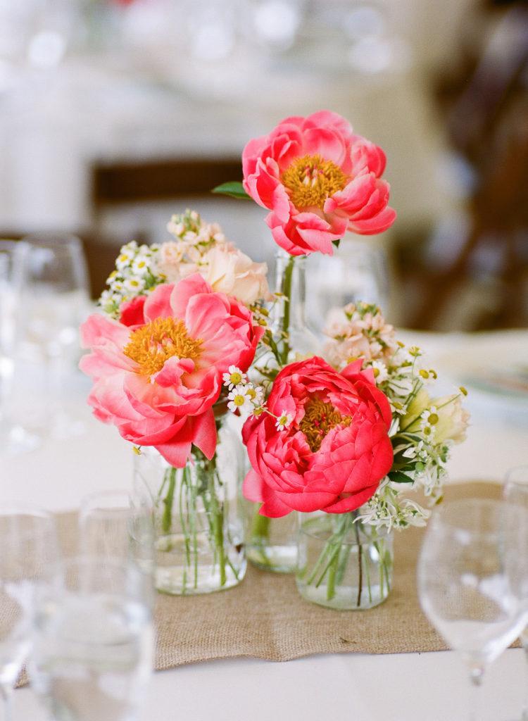 Bloemen als centerpieces