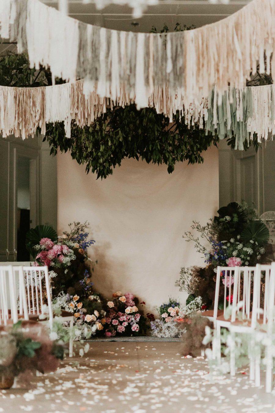 Slingers als trouwdecoratie