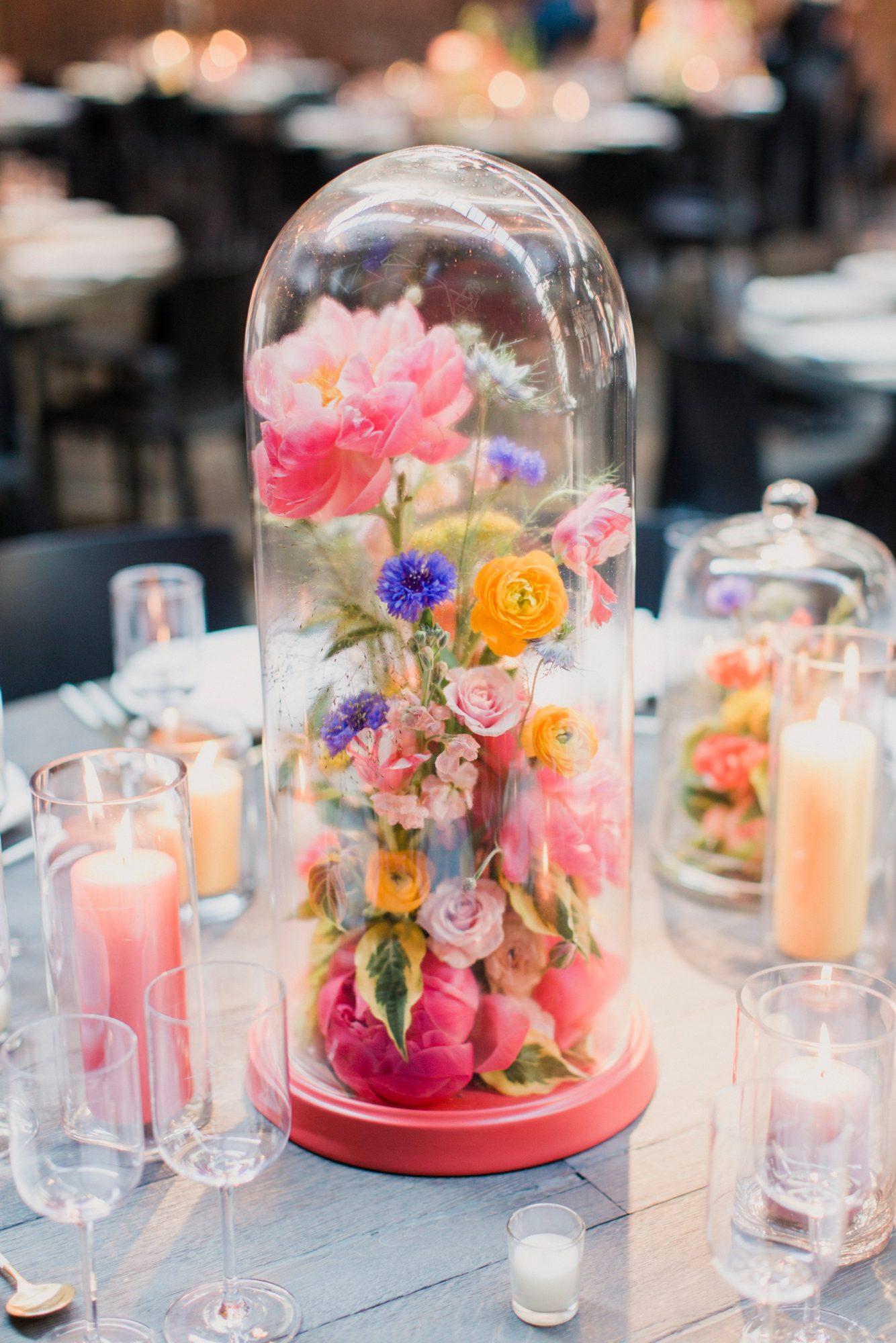 Centerpiece met bloemen