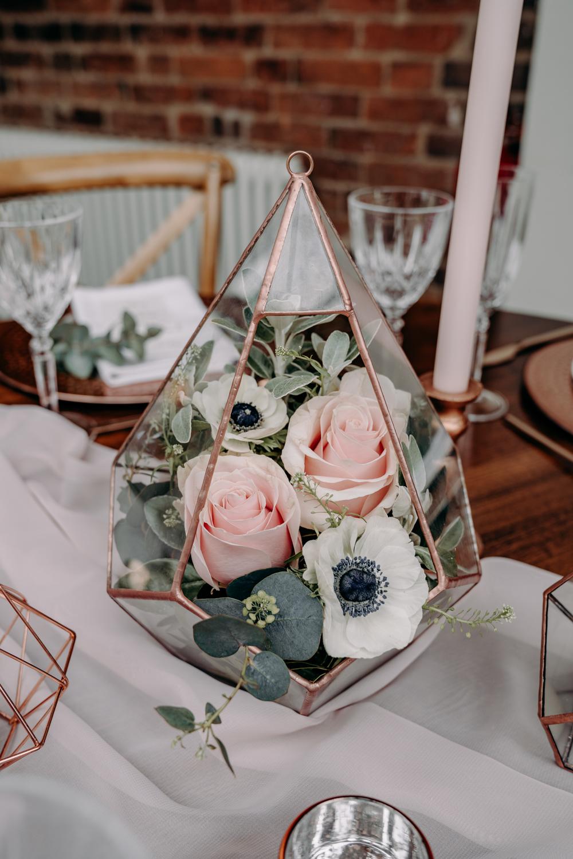 Centerpieces met rozen