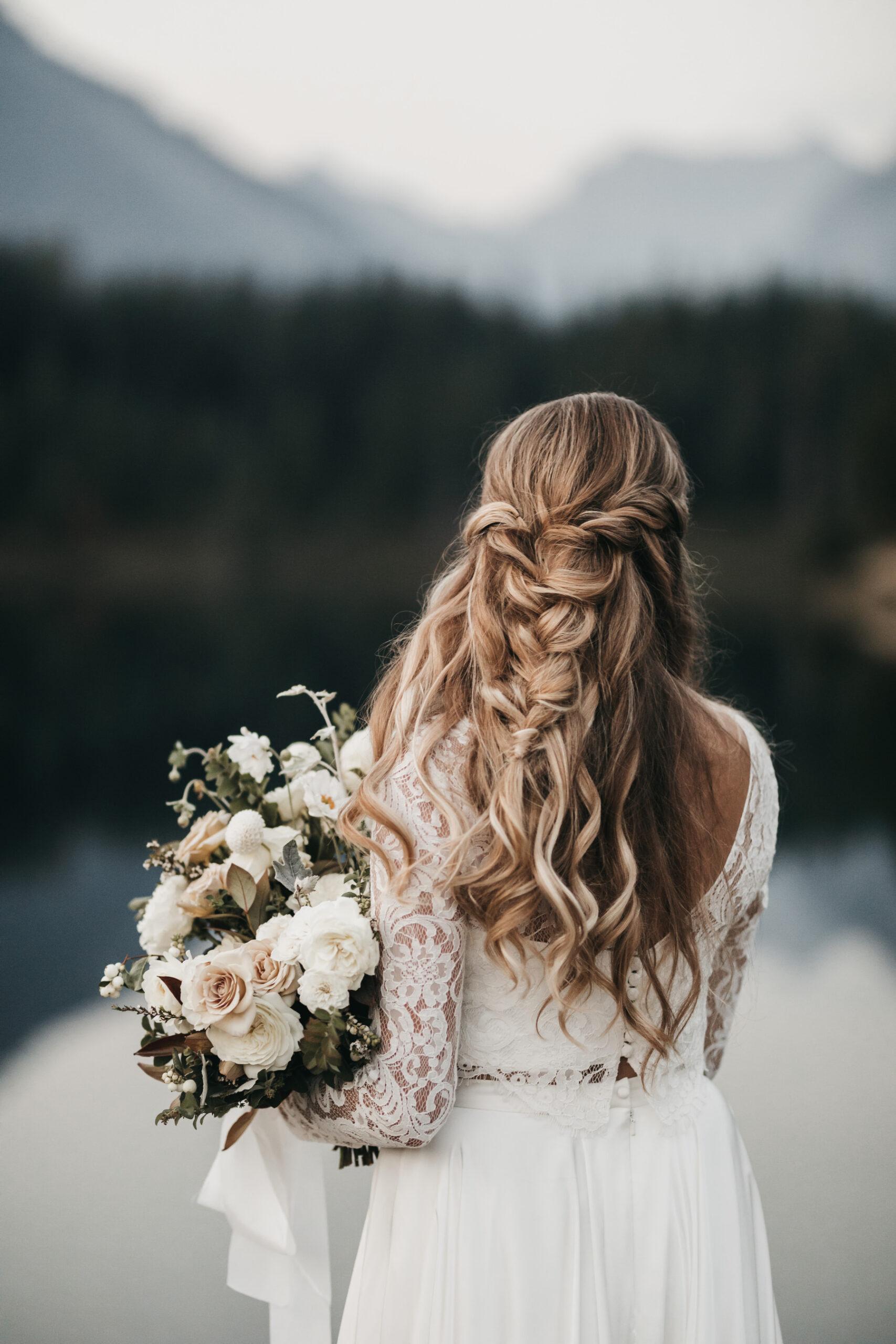 Bruid bij het water
