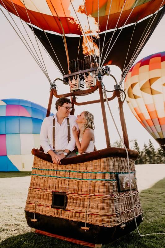 Ballonvlucht als gezamenlijk cadeau voor het bruidspaar
