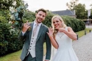 Bruidspaar met trouwringen