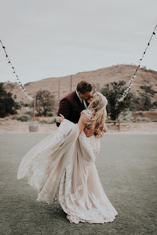 Trouwfoto van het bruidspaar