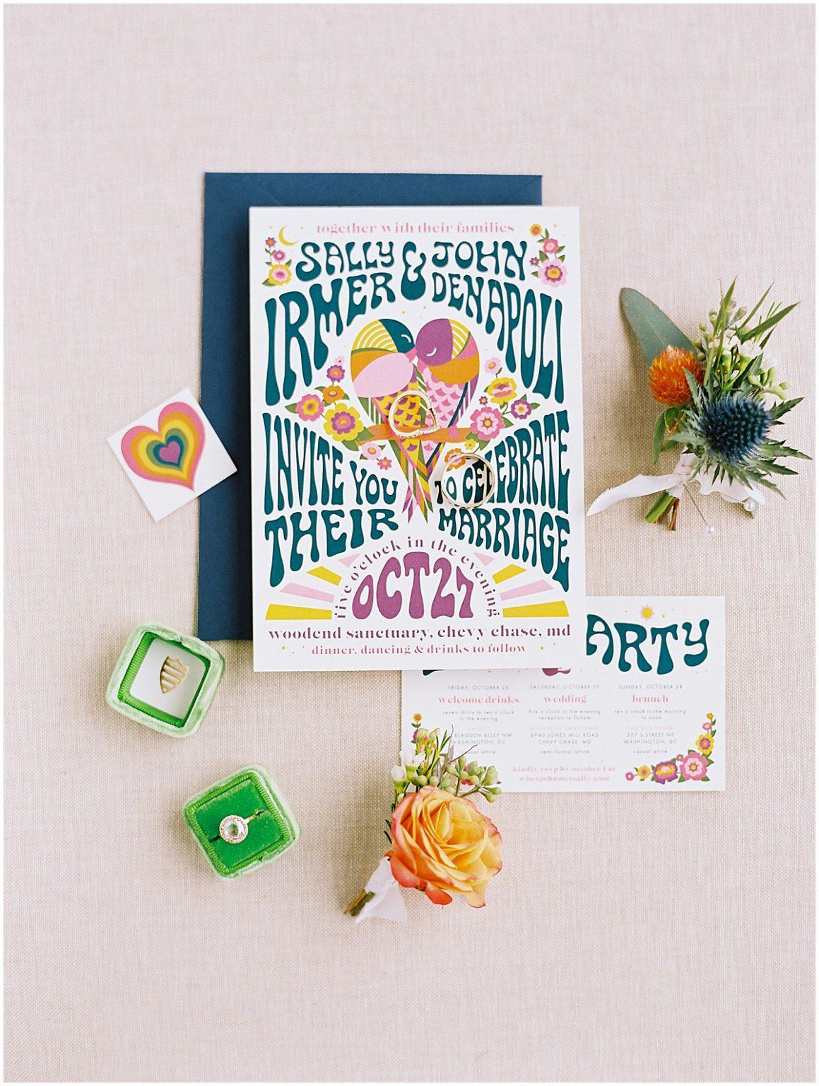 Uitnodiging voor festival bruiloft