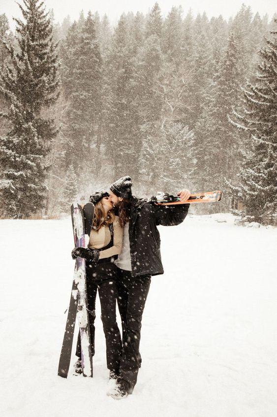 Wintersportvakantie als huwelijksreis