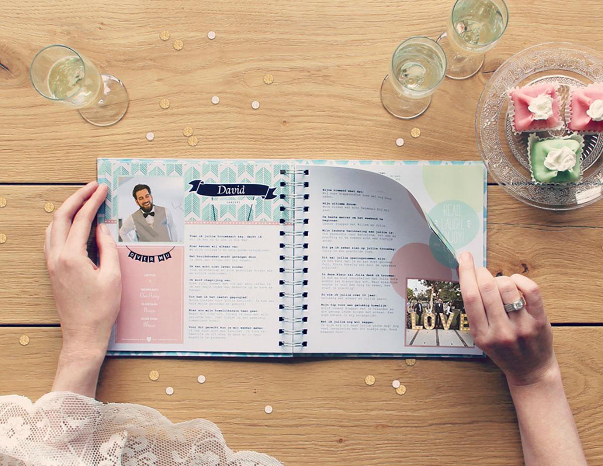 Vriendenboekje als uniek huwelijkscadeau