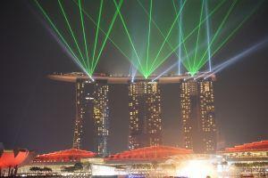Lasers van Marina Bay Sands