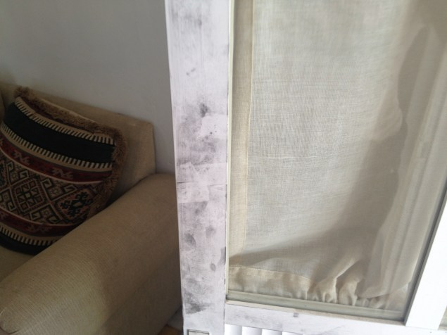 Fingerprints on the doorframe