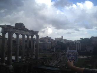 We stood on this side of the forum for a long time admiring it.