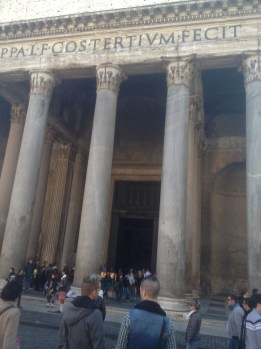 There are tons of pickpockets around tourist attractions like the Pantheon.