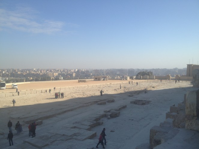 Looking toward Cairo from the pyramids.